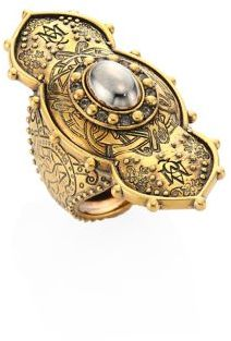 Alexander McQueen Alexander McQueen Jeweled Oval Ring
