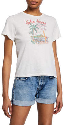 RE/DONE Aloha Short-Sleeve Graphic Cotton Tee