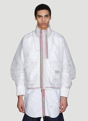 Transparent Articulated Jacket in Clear
