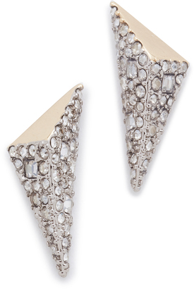 Alexis Bittar Two Tone Pyramid Earrings $125 thestylecure.com