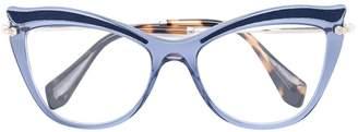 Miu Miu cat-eye glasses