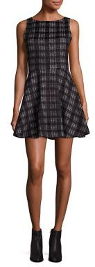 Alice + Olivia Monah Plaid A-Line Dress $330 thestylecure.com