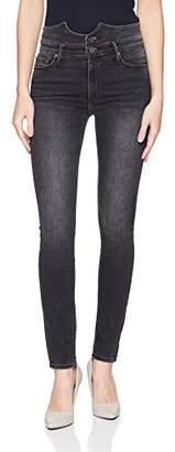 Black Orchid Women's Karlie Button Front Skinny