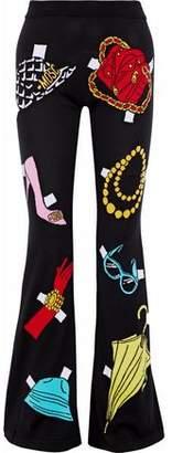 Moschino Jacquard-Knit Cotton Flared Pants