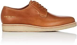 Common Projects Men's Wedge-Sole Leather Bluchers - Beige, Tan