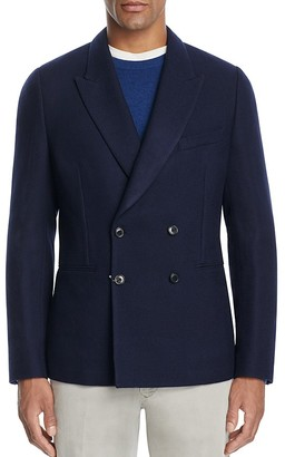 Paul Smith Double-Breasted Unlined Piqué Slim Fit Sport Coat $950 thestylecure.com
