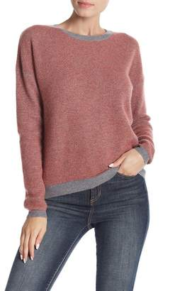 Kier & J Marled Tipped Cashmere Pullover