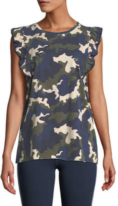 The Upside Camo-Print Frill Muscle Tank