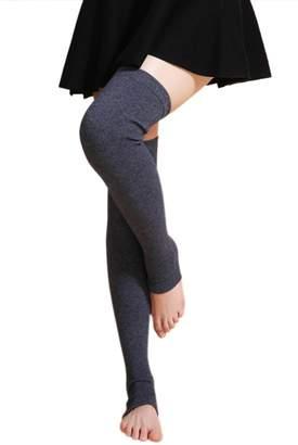 NOVAWO 2015 New Cashmere Over Knee Leg Warmers Warm Knit Legging Socks