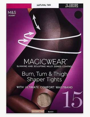 Marks and Spencer 15 Denier MagicwearTM Shine Body Shaper Tights