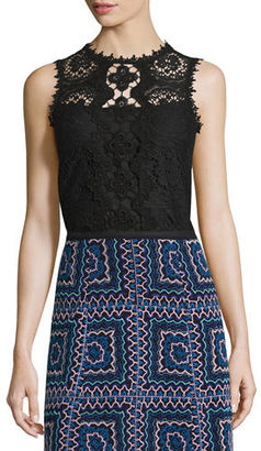 Nanette Lepore Sleeveless Lace Top $298 thestylecure.com