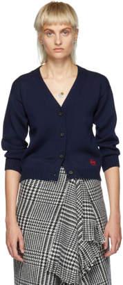 Loewe Navy Anagram Short Cardigan