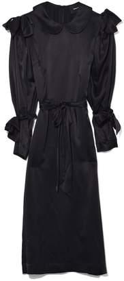 Simone Rocha Bow Sleeve Straight Dress in Black