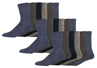 Dockers Basic Cushion Crew Socks, Navy, 18 Pair