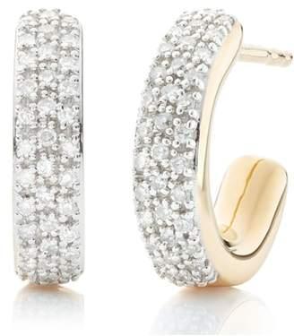 Monica Vinader Fiji Mini Diamond Hoop Earrings