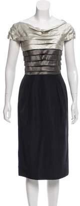 Alberta Ferretti Paneled Sheath Dress