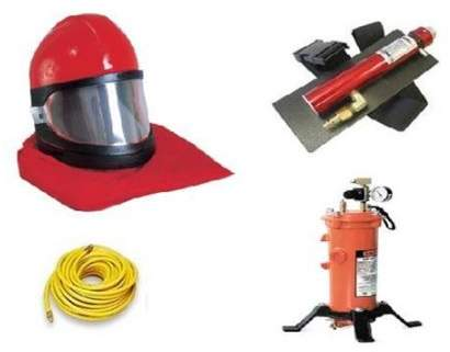 Clemco 10515 Apollo 60 HP With 50 ft. Respirator hose, CPF-20 Air Filter & Climate-Control Tube