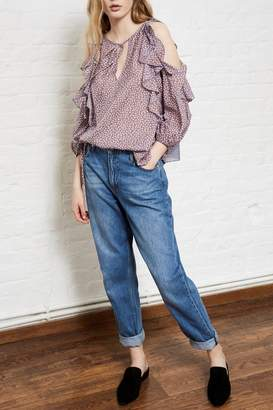 French Connection Elao Voile Cold-Shoulder