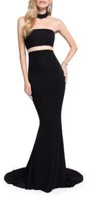 Terani Couture Glamour by Mockneck Train Gown
