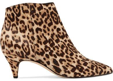 Sam Edelman - Kinzey Leopard-print Calf Hair Ankle Boots - Leopard print