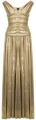 Norma Kamali pleated long dress