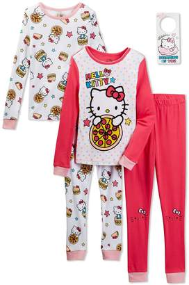 Komar Kids Hello Kitty Girls Piece Cotton Pajama Set