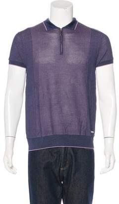 Stefano Ricci Knit Zip Polo Shirt