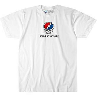 Liquid Blue Unisex-Adult's Plus Size Grateful Dead is Better SYF Short Sleeve Graphic TEE