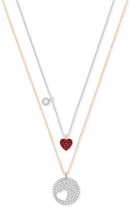 Swarovski Two-Tone 2-Pc. Set Interlocking Crystal Pendant Necklaces