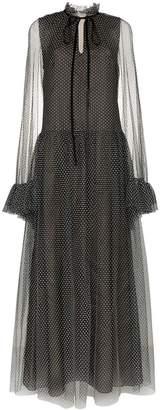 Erdem Odette tulle cape gown dress