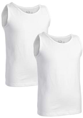 e0819b93 Fruit of the Loom Boys Jersey Tank Tops, 2 Pack