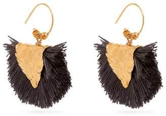 Elise Tsikis - Agia Gold Plated Tassel Earrings - Womens - Black