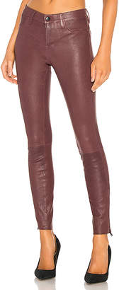 J Brand Mid Rise Skinny Leather Pant