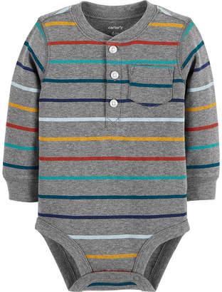 Carter's Slogan Long Sleeve Bodysuits - Baby Boy NB-24 months