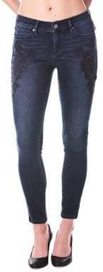 Nicole Miller New York Beaded Skinny Jeans