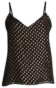L'Agence Jane Metallic Polka Dot Cami