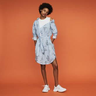 Maje Printed shirt dress