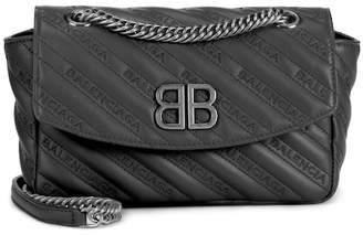 Balenciaga Chain Round S leather shoulder bag
