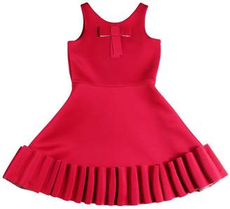 Super Soft Neoprene Dress W/ Ruffle Hem