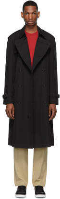 Burberry Black Westminster Heritage Trench Coat