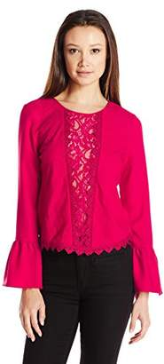 XOXO Women's Embroidered Peasant Blouse