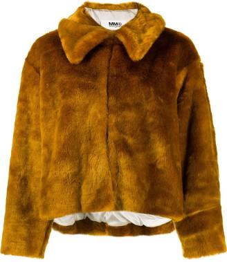 MM6 MAISON MARGIELA faux-fur jacket