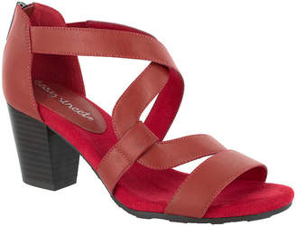 6da1abb19 Easy Street Shoes Red Heeled Women s Sandals - ShopStyle
