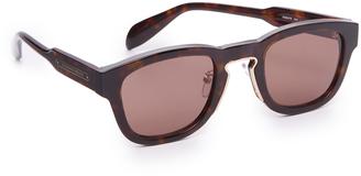 Alexander McQueen Square Metal Detail Sunglasses $385 thestylecure.com