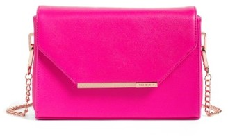 Ted Baker London Textured Bar Faux Leather Crossbody Bag - Pink $159 thestylecure.com