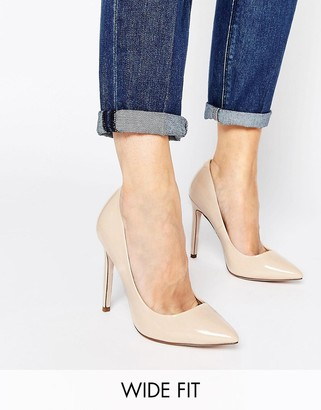 ASOS PLAYFUL Wide Fit Pointed Heels $38 thestylecure.com