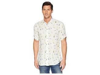 Bugatchi Shaped Fit Sailboat Linen Shirt