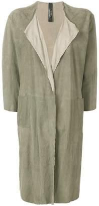 Giorgio Brato long open-front coat