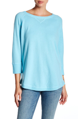 Kinross 3/4 Length Sleeve Cashmere Sweater $114.97 thestylecure.com