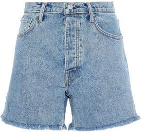 Helmut Lang Frayed Faded Denim Shorts